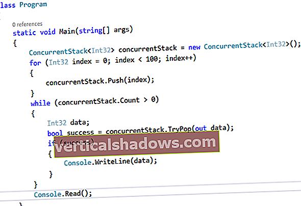Arbejde med trådsikre samlinger: ConcurrentStack og ConcurrentQueue