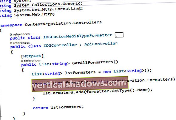 Sådan arbejder du med indholdsforhandling i Web API