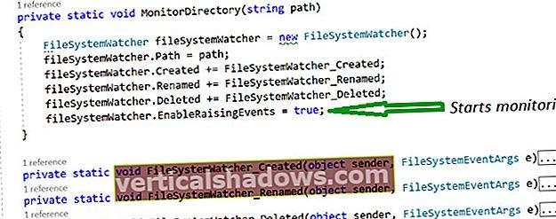Sådan arbejder du med FileSystemWatcher i C #