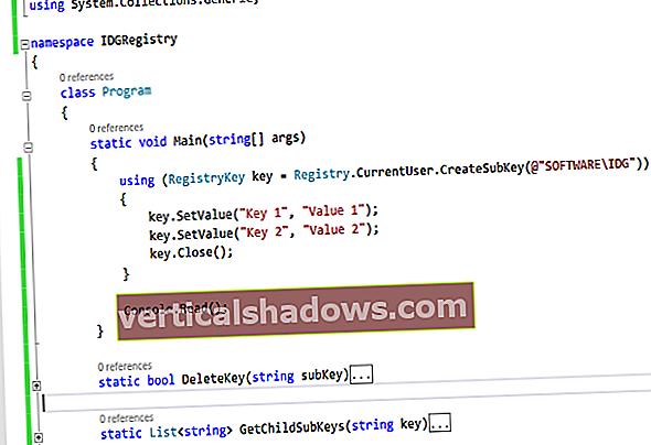 Jak přistupovat k registru Windows pomocí C #